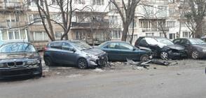 СРЕДНОЩНА ГОНКА: Мъж потроши 7 коли в опит да избяга от крадци (ВИДЕО+СНИМКИ)
