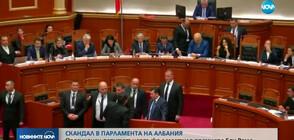 Опозиционен депутат напръска с мастило албанския премиер