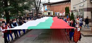 Шествие с 25-метров трибагреник премина във Враца (СНИМКИ)