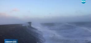 Бурен вятър спря полети в Амстердам, ураган връхлетя Острова (ВИДЕО)