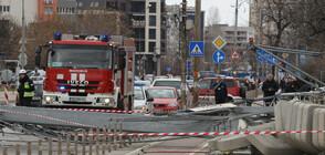 20-метров кран от строителен обект падна в София (ВИДЕО+СНИМКИ)
