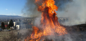 Голям пожар при гимназия в Благоевград вдигна огнеборците на крак