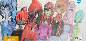 9-годишна художничка направи първата си изложба