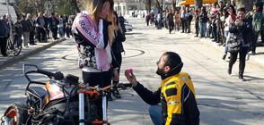 Предложение за брак на откриването на мотосезона (СНИМКИ)