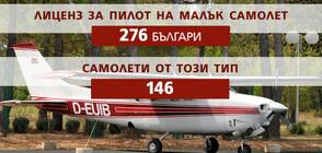 276 българи имат лиценз да управляват малък самолет