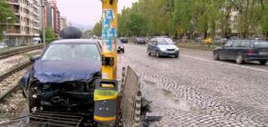 Жена с над 3 промила катастрофира в София (ВИДЕО+СНИМКИ)