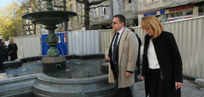 """Фандъкова направи инспекция на фонтана на площад """"Славейков"""" (СНИМКИ)"""
