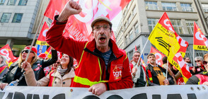 Хиляди протестираха пред ЕП в Брюксел (СНИМКИ)