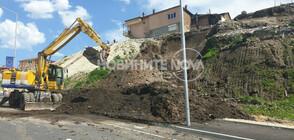 Срутване на нов булевард във Варна (ВИДЕО+СНИМКИ)
