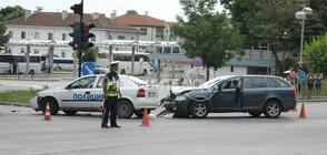 Кола удари патрулка в Шумен (СНИМКИ)