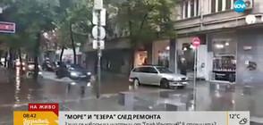 """СЛЕД ПОРОЯ: """"Море"""" и """"езера"""" в центъра на София (ВИДЕО)"""