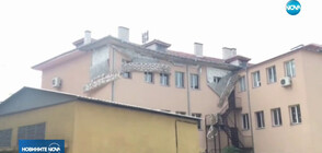 Паднаха големи парчета от мазилка на санирано училище в Пловдив