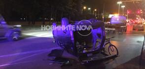 """Кола се обърна на столичния булевард """"Гешов"""" (ВИДЕО+СНИМКИ)"""