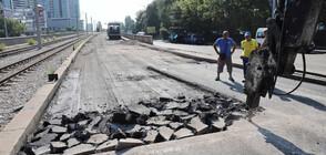 """50% от ремонта на бул.""""България"""" е готов"""