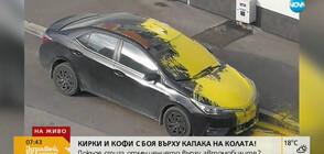 """""""Пълен абсурд"""": Кирки и кофи с боя върху капака на колата"""