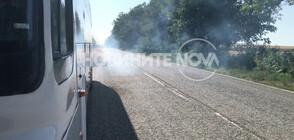 Пътнически автобус, пътуващ за Силистра, аварира 4 пъти (ВИДЕО)