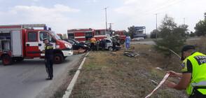 Джип и лека кола се удариха в Ямбол, има загинал (СНИМКИ)