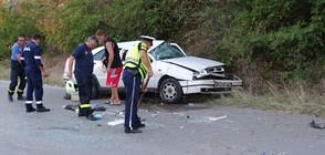 Шофьор на лек автомобил оцеля по чудо след сблъсък със скат (СНИМКИ)