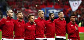 """На """"Стад дьо Франс"""": Объркаха името и химна на Албания, Макрон се извини (ВИДЕО)"""