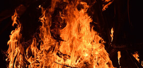 Пожар гори близо до квартал на Варна
