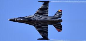 Белгийски F-16 катастрофира във Франция, единият от пилотите увисна на електропровод (СНИМКИ)