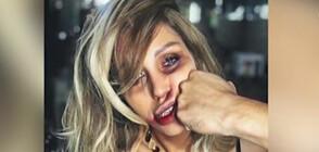 Джулиана Гани в кампания срещу насилието