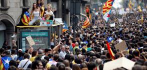 Десетки ранени и арестувани при масовите безредици в Барселона (ВИДЕО)