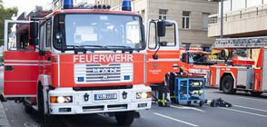 Влак с футболни фенове пламна в Берлин (ВИДЕО+СНИМКИ)
