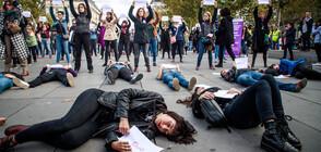Протест в Париж срещу домашното насилие (ВИДЕО+СНИМКИ)