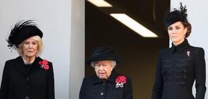 Кейт и кралицата на един балкон за Деня за възпоменание, Меган - на друг (СНИМКИ)
