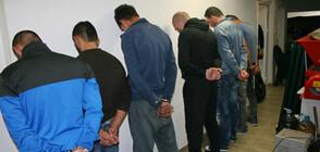8 задържани при спецакция в Бургас (ВИДЕО+СНИМКИ)