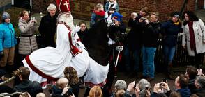Холандският Дядо Коледа пак скандализира с помощника си Черния Пит (ВИДЕО+СНИМКИ)