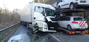 Тежка катастрофа блокира Кресненското дефиле, има пострадал (ВИДЕО+СНИМКИ)