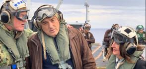 """Борисов, Херо Мустафа и Заев на борда на US самолетоносача """"Хари Труман""""(ВИДЕО+СНИМКИ)"""