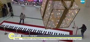 ПИАНО - ГИГАНТ: Уникален инструмент радва жители и гости на Пловдив (ВИДЕО)