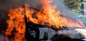 Мъж изгоря в колата си след удар в стълб