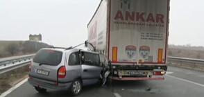 """Верижна катастрофа затвори АМ """"Марица"""" (ВИДЕО)"""