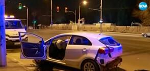 Тежка катастрофа в центъра на София (ВИДЕО)