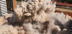 """Наклонената кула в Далас """"отказва"""" да бъде съборена (ВИДЕО)"""