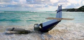Военен самолет се разби в морето в Испания (ВИДЕО)