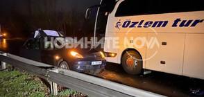 Катастрофа затвори пътя Бургас - Созопол, има двама загинали (ВИДЕО+СНИМКИ)