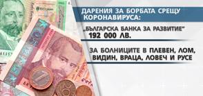 БОРБАТА С COVID-19: Все повече са даренията за болници извън София