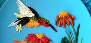ВКУСНИ ШЕДЬОВРИ: Животни и цветя от плодове и зеленчуци (ГАЛЕРИЯ)