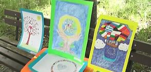 Деца дариха дезинфектанти и рисунки на местна болница