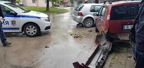 Кой е мъжът, който помете коли, блъсна се в къща и удари жена във Варна? (ВИДЕО)