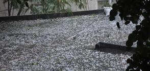 Валежи и опасно време утре, градушка падна в София (ВИДЕО)