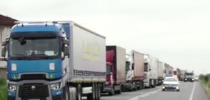 """Километрични колони от камиони на ГКПП """"Дунав мост 2"""" (ВИДЕО)"""