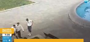 Вандали счупиха кошче за боклук и играха футбол с него в Русе (ВИДЕО)