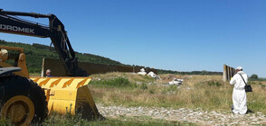 Продължава изравянето на опасните отпадъци, открити край Червен бряг