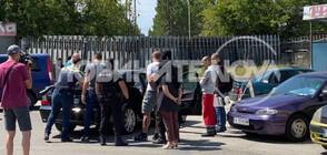 Арестуваха мъж в бензиностанция в Бургас (СНИМКИ)